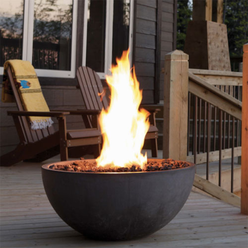 Outdoor heating fire bowl